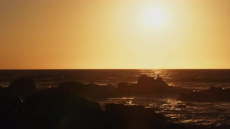wavebreaker : Beautiful, Epic Sunset At A Chilenean Coast