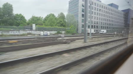 highspeed : Driving By Train From Paris To Versailles, France - native clip Stock Footage