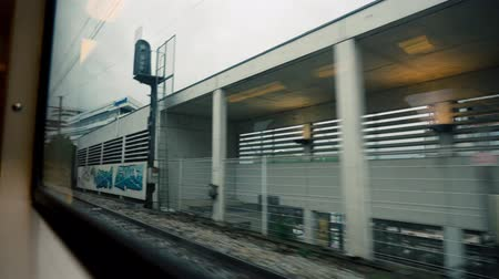highspeed : Driving By Train From Paris To Versailles, France - graded version
