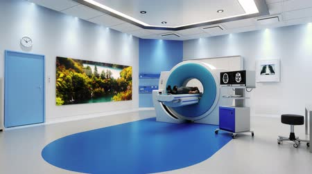 rezonans magnetyczny : MRI Scanner Room With Patient