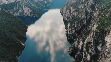 gát : clean blue mountain lake in Montenegro, Piva