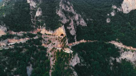 altura : Aerial view of mountains and mountain roads, Montenegro