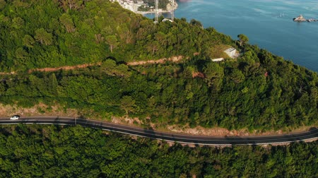 serpentine : aerial view of mountain road on Adriatic coast