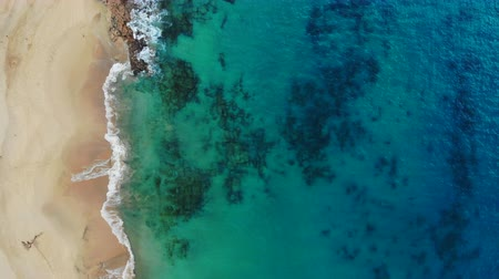 white sand : Aerial view of beautiful Papagayo Beach in Canary Islands