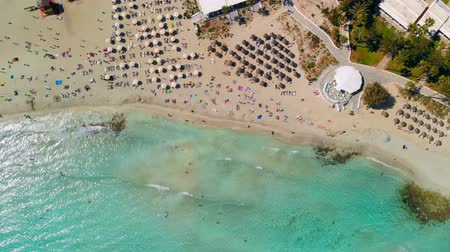 napágy : Aerial view of beautiful beach of Mediterranean, Nissi beach in Ayia Napa