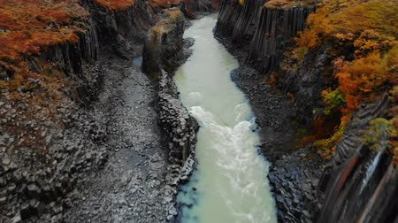 esplêndido : Aerial view of Studlagil Canyon, Jokulsa A Bru river in Iceland
