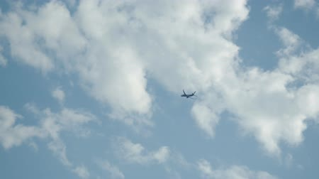 tomar : The plane takes off against a blue sky Stock Footage