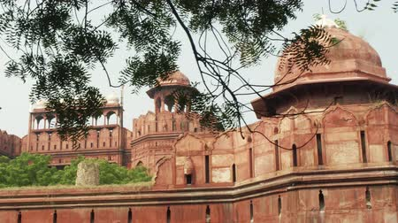 historical building : The Red Fort Lal Qila , a historical fort in the city of Delhi, India. UNESCO world Heritage Site.