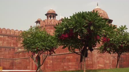 The Red Fort Lal Qila , a historical fort in the city of Delhi, India.
