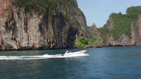 Tourists on a boat at PhiPhi Don Island waters