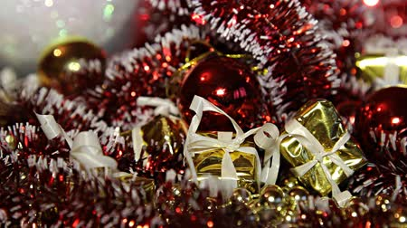 kerstsfeer : Kerstfeest decoraties Stockvideo