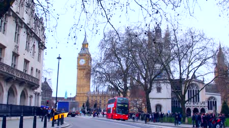 büyük : Big Ben and bus Stok Video