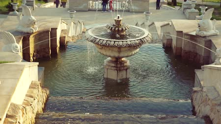 galeria : Beautiful fountain in city park, Baroque architecture. Vídeos