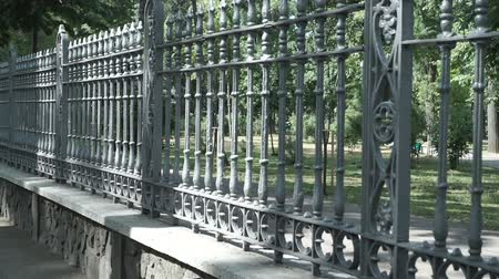 accent : The forged lattice, fence Stock Footage