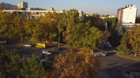 sąsiadka : Aerial shot of autumn city, Kishinev, Moldova. Wideo