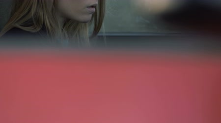Girl looking away, girl in the car driving, The girl with sad eyes, Melancholy