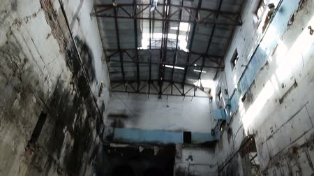 bieda : Abandoned ruined buildings, ruins of factories, broken houses