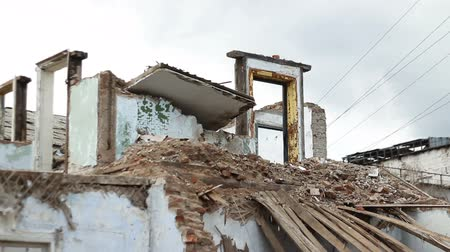 zbourán : Abandoned ruined buildings, ruins of factories, broken houses