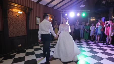 reception : Bride and groom at wedding dance