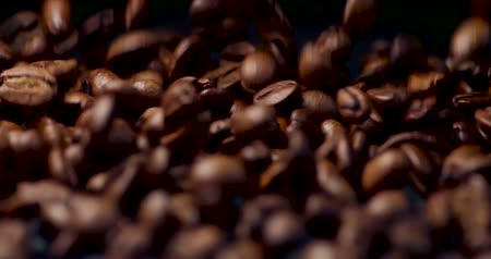 awesome : Coffee Beans Tumbling Towards the Camera