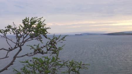landscape on lake Baikal. View from Olkhon island