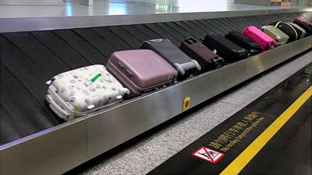 bagaż : Airport Luggage Carousel Wideo