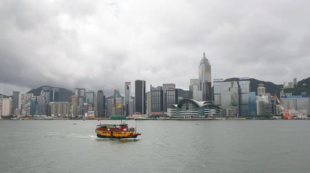 Виктория : Hong Kong Victoria Harbour with boat