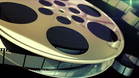 Spinning film reel 影像素材