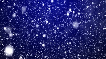 проворный : New Years frosty background and falling snowflakes