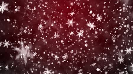 sniezynka : Christmas background with snowflakes - falling snow Wideo