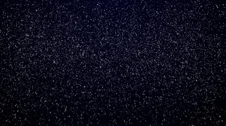 проворный : Snowfall on darkly dark blue background. Snowflakes. Стоковые видеозаписи