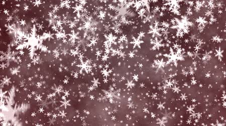 проворный : Christmas background with snowflakes - falling snow Стоковые видеозаписи