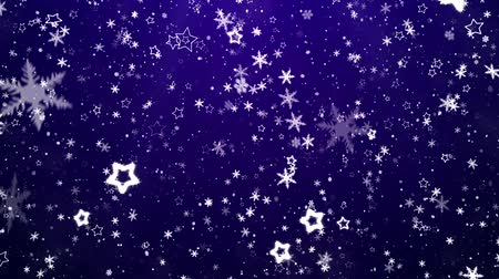 srebro : Snowflakes and stars. New Years - the Christmas background Wideo