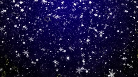 zimní : Christmas background with snowflakes - falling snow Dostupné videozáznamy