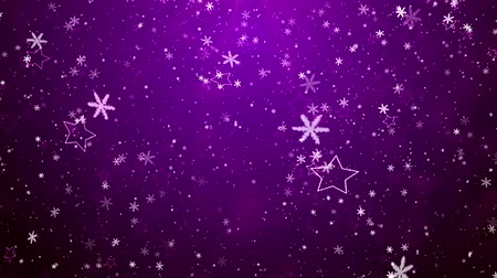 проворный : Snowflakes and stars. New Years - the Christmas background Стоковые видеозаписи