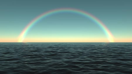 vida : The sea  ocean and a rainbow