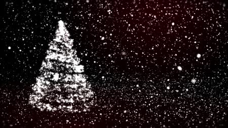 pré natal : Christmas background with snowflakes - falling snow Vídeos