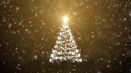 shiny : Christmas tree with falling snowflakes and stars