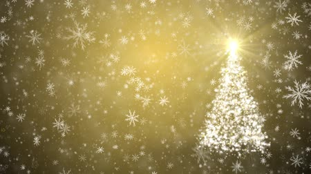 pré natal : Growing Christmas tree with falling snowflakes and stars