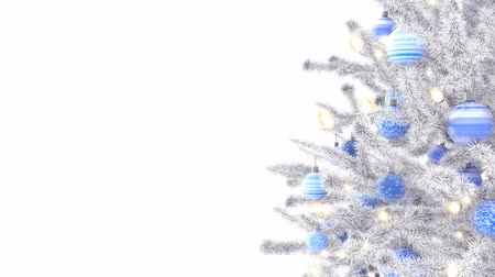 безделушка : Christmas tree isolated on white background, luma matte