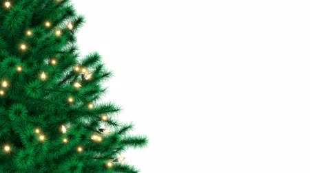 Christmas tree isolated on white background, luma matte