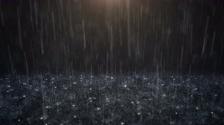 Rain on darkly background