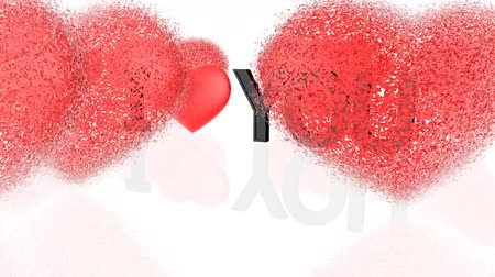 objetos : Words I love you with hearts around Vídeos