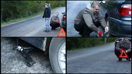 содействие : Car breaking down on the road