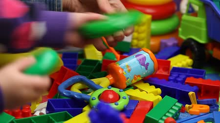 toy : Mother gives toys Stock Footage