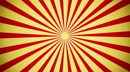 цирк : Sunburst in red and yellow vintage style