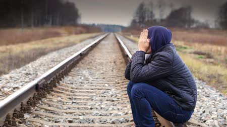 be sad : Depressed boy on the railway episode 2