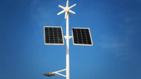 fotovoltaica : Street lighting with solar panels and wind generator