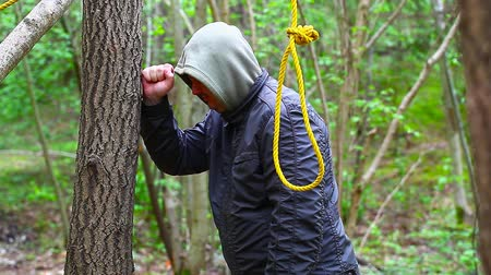 male : Man with noose in the woods episode 2