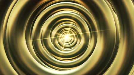 hipnoza : The tunnel of rings in gold with light in end Wideo